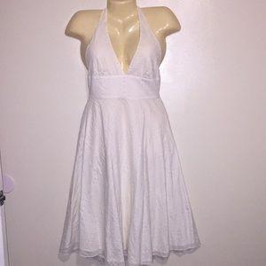 J. Crew White Halter Top Sun Dress Size 4